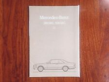 Mercedes Benz 380/500SEC - Original Sales Brochure (16 pages) DE language 1982/3