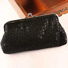 Women Sequins Buckle Clutch Evening Party Bag Handbag Wallet Purse Perfect A4