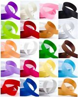 15mm Width Double Sided Satin Ribbon - Cut to Length - From 20p per metre.
