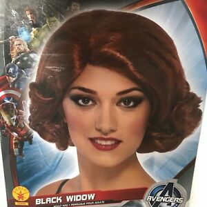 Marvel Black Widow Womens Adult Deluxe Wig Halloween Party Costume Accessory