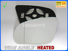 Wing Mirror Glass MERCEDES C220 W205 2014-2016 Wide Angle HEATED Left Side #E032