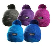 NEW  KNITTED THINSULATE STYLE THERMAL INSULATE SKI BOBBLE POM BEANIE WOOLLY HAT