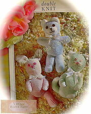 Vintage Toy Knitting Pattern For A Kitty Cat, Teddy & Rabbit. JUST £1.69 !!!
