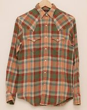 NEW Ralph Lauren RRL DOUBLE RL Men's Green Plaids Cotton Casual Work Shirt XS
