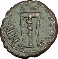 JULIA DOMNA Nicopolis ad Istrum Authentic Ancient Roman Coin Tripod Snake i48362