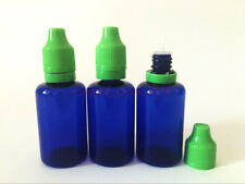 Wholesale 30ML Drak Blue Plastic ChildProof Tamper Evident Dropper Bottle PET