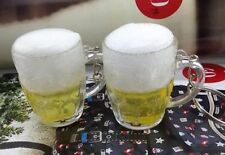 Beer Mug Keychain Beer With Foam 2 Inches US Seller