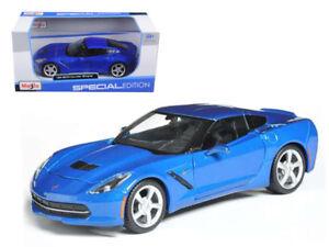 1/24 Maisto 2014 Chevrolet Corvette C7 Stingray Coupe Blue Diecast Blue 31505