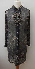 Polyester Animal Print Casual Shirt Dresses
