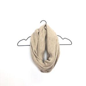 Calvin Klein Infinity Loop Scarf, Almond Tan, 100% Acrylic, Women's One Size