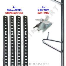 Frigorifero scaffalatura KIT 4 x lunghezze ACCIAIO pilastro SBARRA 980mm + 8