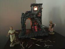 "Fontanini 5"" Nativity Village Inn 50152 w/ Thaddeus The Inn Keeper & Elizabeth"