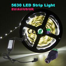 (Non) Waterproof 5M 5630 SMD 300 LED Strip Light Full Kit 12V+ Power Adapter +DC