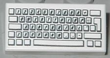 LEGO - Tile 1 x 2 with Computer Keyboard Standard Pattern - White