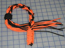 paracord 550 decorative whip harley colors black and orange wall hanger cord