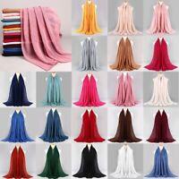 Premium Viscose Maxi Crinkle Cloud Hijab Scarf Shawl Soft Islam Muslim 180x80cm