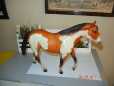 1983 Breyer Overo Matte Bay Paint Leg Down Stockhorse w vintage Breyer saddles