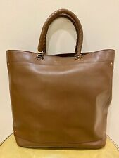 Coccinelle Brown Leather Bag Tote Strap