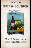 IMAGE CHOCOLAT GUERIN BOUTRON / VINS & HUITRES de GIRONDE / BOLIVAR
