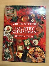 """1994 """"CROSS STITCH COUNTRY CHRISTMAS"""" ILLUSTRATED LARGE HARDBACK BOOK"""