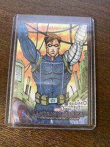 Upper Deck Captain America Winter Soldier Jon Racimo Sketch Card Winter Soldier
