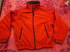 Eddie Bauer Men's Orange Jacket Coat Size M Medium Nylon Shell Fleece Lining