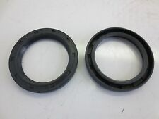 Black Rubber Rotary Shaft Oil Seal (Pack of 2)