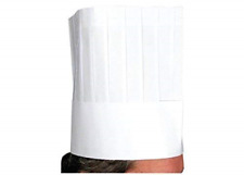 Tytroy Set of 10 White Adjustable Paper Tall Chef Hat Kitchen Cooking and Baking