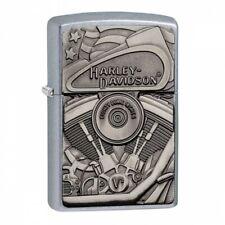 Harley-Davidson Motor Flag Emblem Street Chrome Zippo Lighter - Us Shipping
