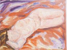 Peinture Tableau nu femme huile sur toile 40cm/30cm Picard art oil painting