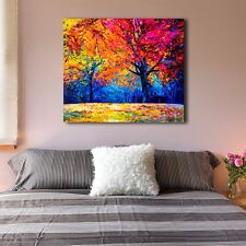 60×70×3cm Framed Canvas Print Stretched Forest Tree Abstract Wall Art Home Decor