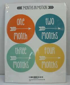 Months in Motion Milestone Baby Photo Prop Stickers 1-12mths - Boy Many Options!