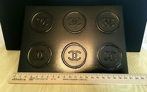 NEW RARE CHANEL STICKERS BLACK STAMP - 1 SHEET / 6 PIECES OF STICKERS