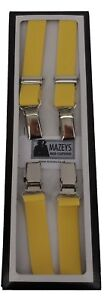 Mens Yellow Made in England 1/2 Inch Braces