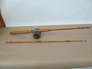 Vintage J.C. Higgins 3058A Bamboo Fishing Rod w/ Ocean City Inductor Reel