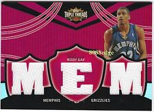 2006-07 TRIPLE THREADS RC RELICS #83: RUDY GAY #19/36 ROOKIE JERSEY GRIZZLIES