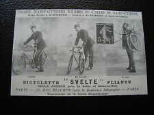 FRANCE - carte (reproduction) (bicyclette svelte pliante) (cy68) french