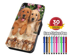 Puppies - Labs Flip Leather Phone Case for iPhone Samsung Huawei