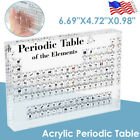 Acrylic Periodic Table of Elements Chemical Teaching Tool Student Teacher Gift