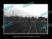 OLD LARGE HISTORIC PHOTO OF DECHERD TENNESSEE, THE RAILROAD DEPOT STATION c1940