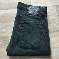 Men's Levi's 511 Slim Straight Black Jeans W32 L30 (#A936)