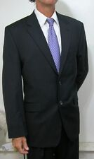 NEW NWOT Ralph Lauren Modern 2btn Black Microstripe Suit 42 R Reg MACY's