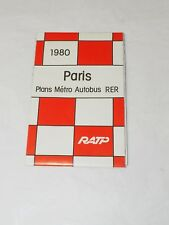 1980 Paris Plans Métro Autobus Rer Ratp Volet Rabattable Carte