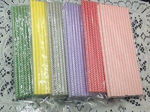 50Pcs Colorful Rainbow Paper Drinking Straws Vintage Birthday Wedding Xmas Party