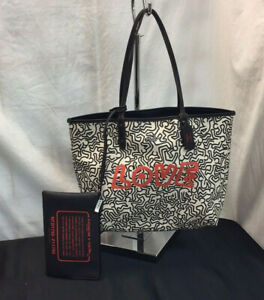 NWT! Coach Limited Edition Keith Haring Tote & Clutch