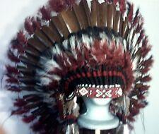 Native American Buffalo Dancer War Bonnet Feather Headdress