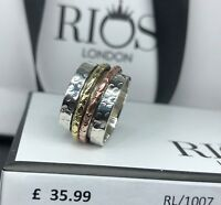 Stunning 925 Sterling Silver Spinning Solid Big spinner Ring RRP £35.99 Boxed