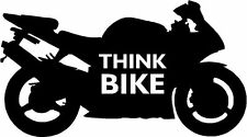 Pensate BICI smettere di pensare Bici Moto Adesivo Decalcomania Grafica Vinile etichetta blackv2