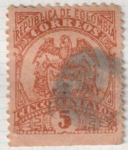 COLOMBIA 1895/97   5c  Good Used  Classic Stamp (C1)