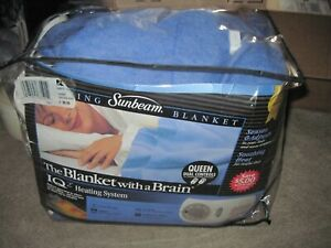"SUNEAM Blanket With A Brain Electric Warming Blanket QUEEN 84""x90"" BLUE New"